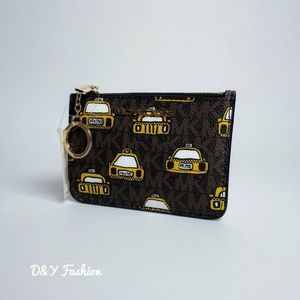 Michael Kors Jet Set Coin Pouch Wallet  NY Taxi